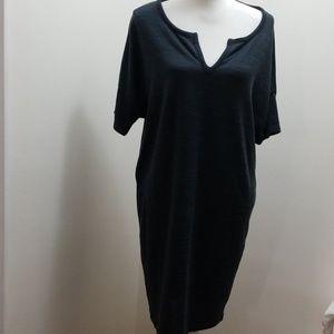 Old navy black/navy printed midi dress